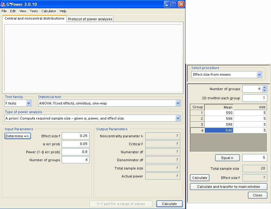 One-way ANOVA Power Analysis | G*Power Data Analysis Examples ...